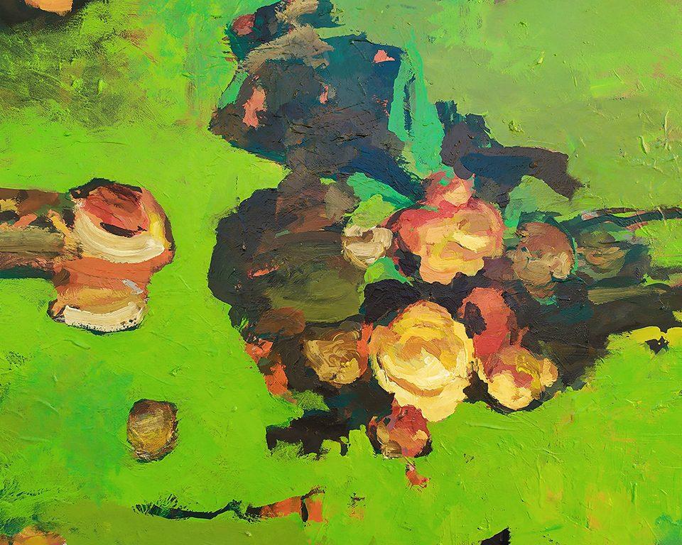 """""""FLUX 08.07"""". Acrylique sur bois. 160 cm x 124 cm. 2020"""